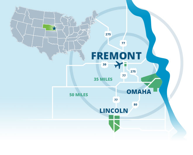 fremont location map